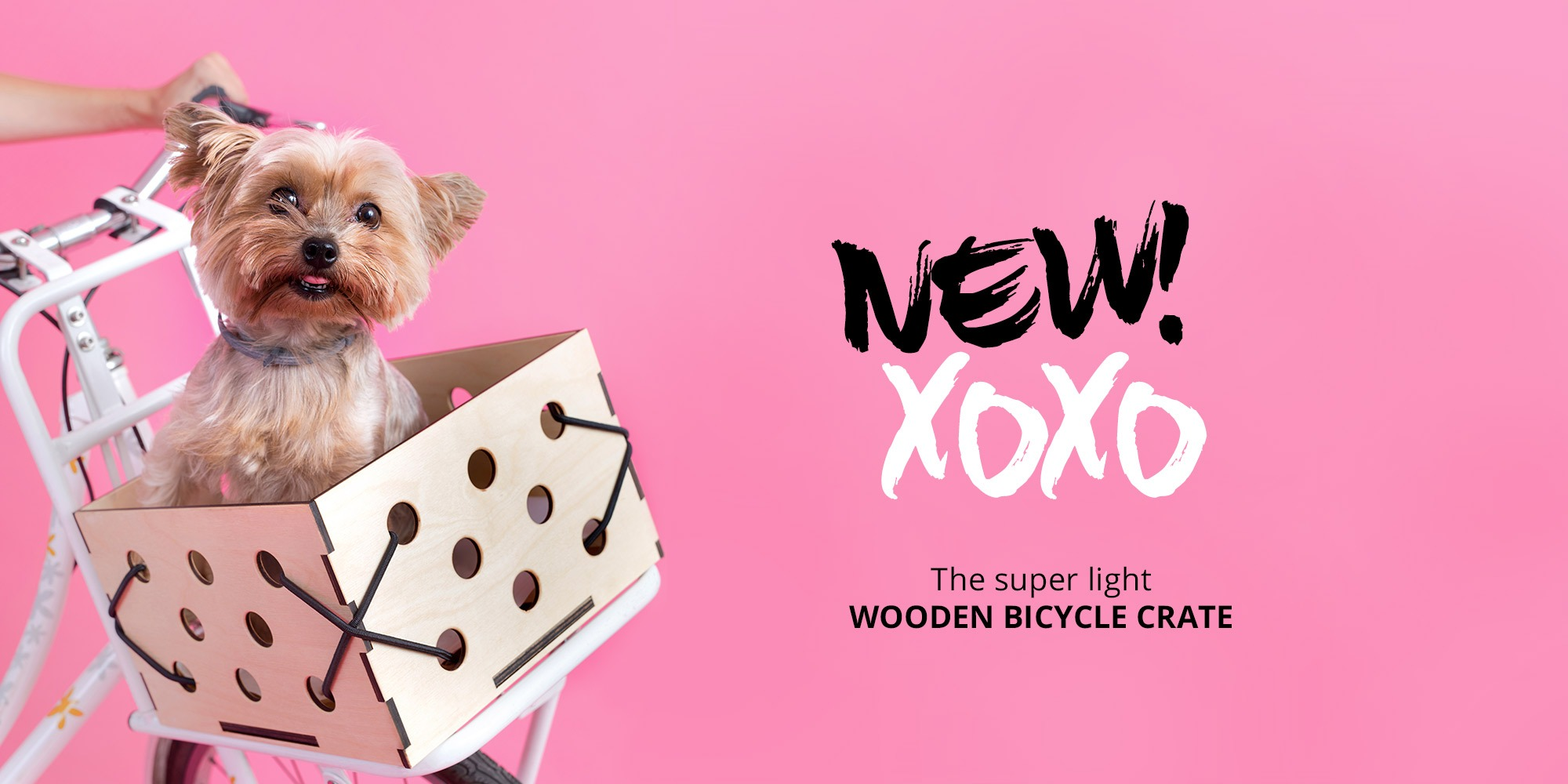 PaperSpokes XOXO wooden bicycle crate